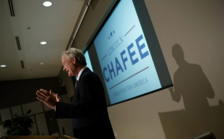 Former Rhode Island Governor Chafee joins Democratic presidential race