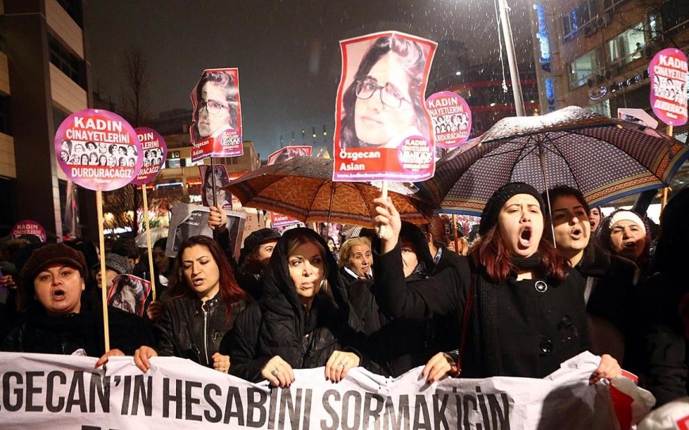 Ozgecan Aslan, demonstration, Turkey