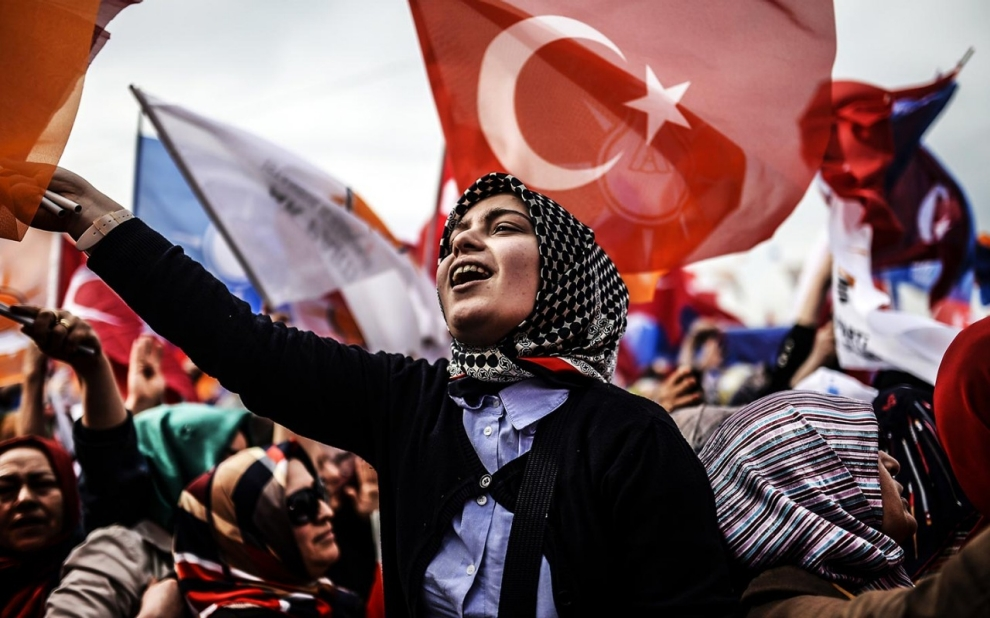 Turkey, Erdogan, rally, women