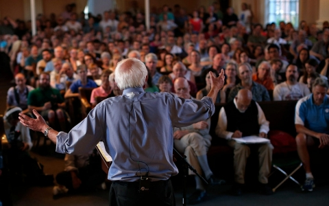 Thumbnail image for Bernie Sanders campaign rallies drawing enthusiastic progressive crowds