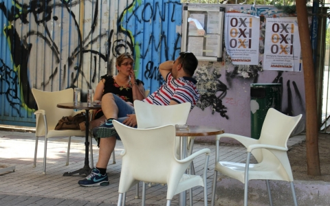 Thumbnail image for Worn out and anxious, Greeks try to maintain a semblance of normality