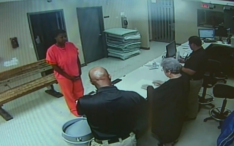 Thumbnail image for After death threats, officials release video of Sandra Bland's booking