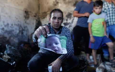 Thumbnail image for Palestinian baby burned to death in alleged settler attack