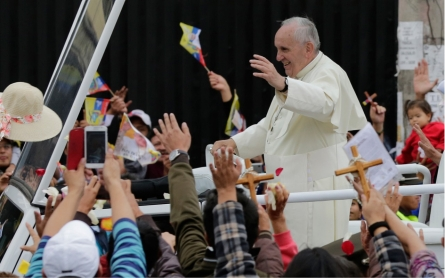 Pope begins South America visit