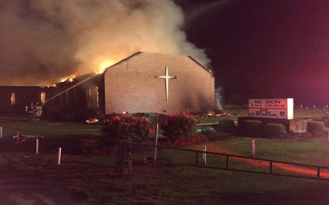 Thumbnail image for US Muslim groups launch fundraiser to help rebuild burned black churches