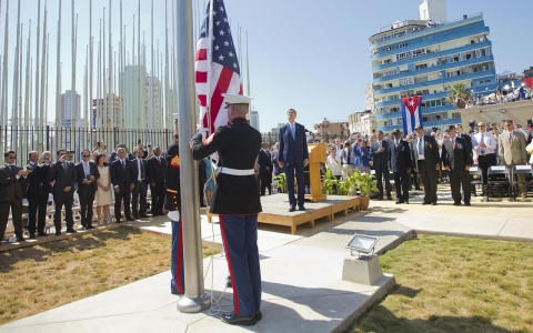 Thumbnail image for US flag raised at embassy in Havana
