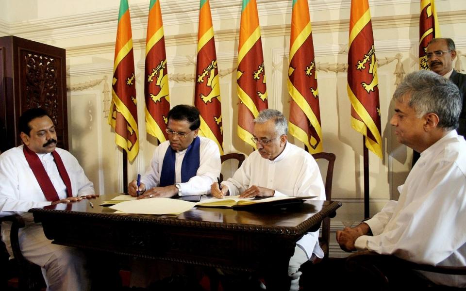 Sri Lanka political leaders
