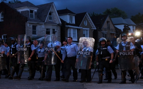 Thumbnail image for After fatal St. Louis shooting, activists slam 'aggressive' police tactics