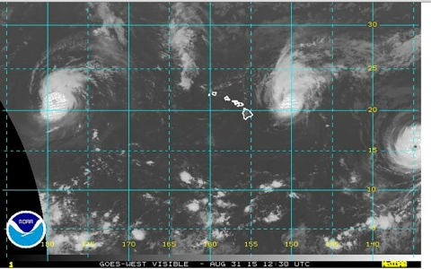 Thumbnail image for Three major hurricanes form in Pacific simultaneously, setting record