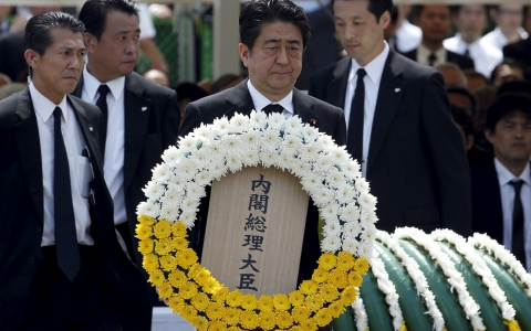 Thumbnail image for At Nagasaki, Abe renews pledge to keep Japan free of nuclear weapons