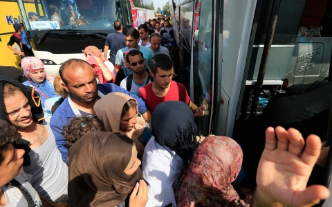 Thumbnail image for Serb buses provide refugees route away from Hungary border 'hell'