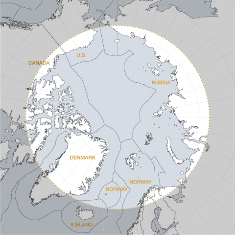 Eight countries hold territories in the Arctic Circle