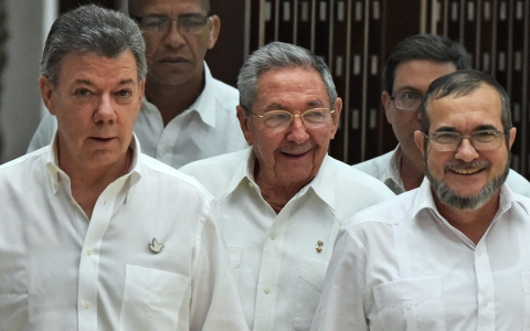 Thumbnail image for Colombia's president, FARC rebels announce breakthrough in talks