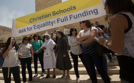 Palestinian teachers, students strike in Israel over school budget cuts