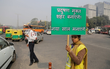 New Delhi starts limiting cars for 2 weeks to clear air