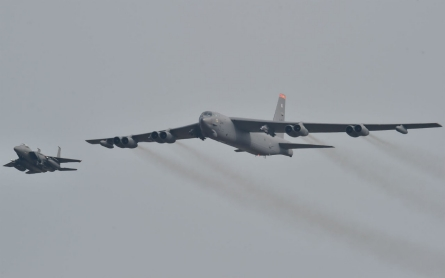 US bomber flies over South Korea in show of force as standoff deepens