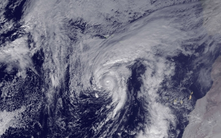 Rare Atlantic hurricane moves closer to Azores