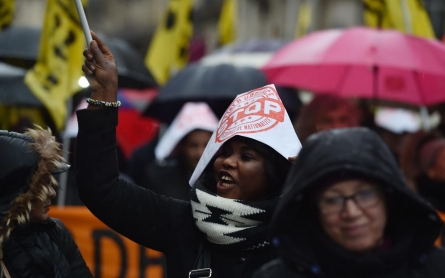 Thousands march in Paris rain against state of emergency
