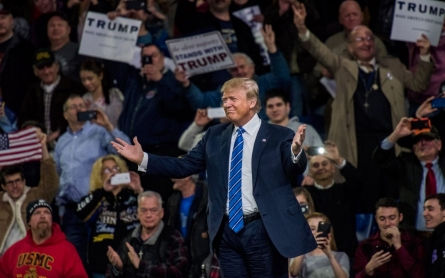 At New England rally, Trump campaign accentuates deep divide
