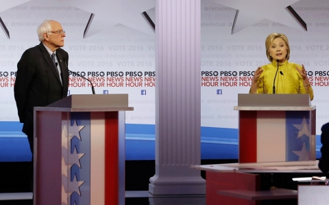 Thumbnail image for Clinton and Sanders clash over minorities, money in substantive debate