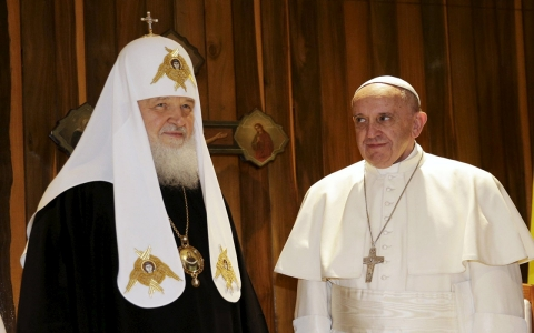 Thumbnail image for Millennium after split, pope and Russian patriarch meet in Cuba