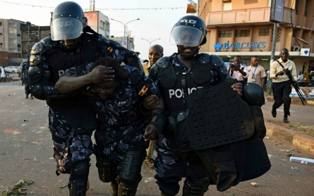 Ugandan police clash with opposition supporters ahead of elections