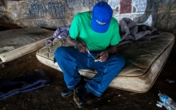 A blurry line divides addicts and dealers in heroin underworld
