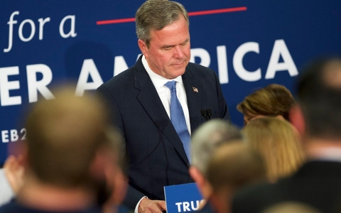 Thumbnail image for Bush ends campaign as Trump wins S. Carolina; Clinton clinches Nevada