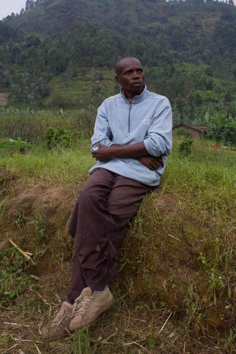 Serugendo Deo, 45, is vice chairman of a brick making and agriculture cooperative in Rwanda's Musanze district.