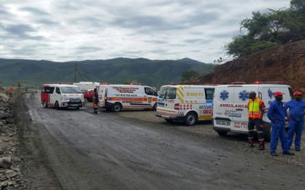 Three missing, 87 rescued after South Africa mine collapse