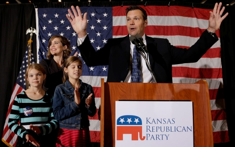 Kris Kobach and family