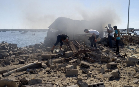 Thumbnail image for Witness: Four children killed in artillery strike on Gaza City harbor