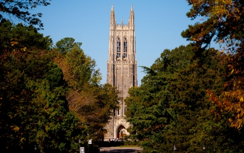 A general view of the Duke University Chapel on Oct. 26, 2013 in Durham, North Carolina.