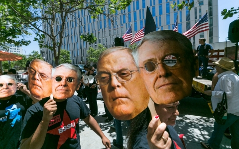 Koch Brothers protest