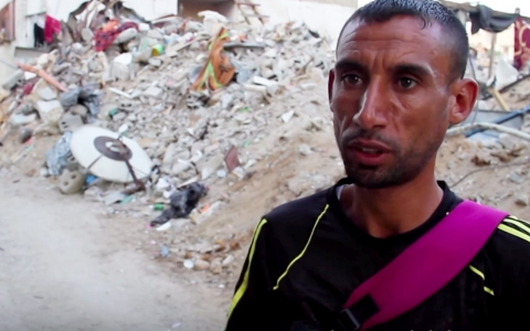 Thumbnail image for Running in the rubble of Gaza