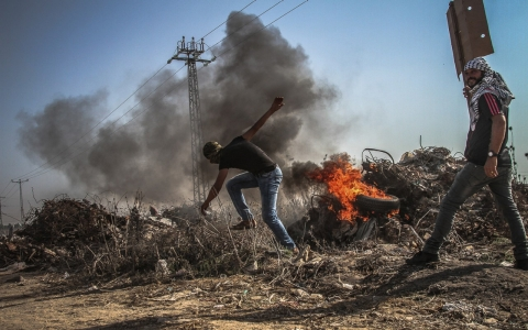 Thumbnail image for Palestinians protest throughout the West Bank, Gaza on 'Day of Rage'