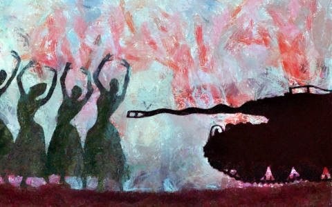 Thumbnail image for Syrian artists aim to show world gruesome reality of war