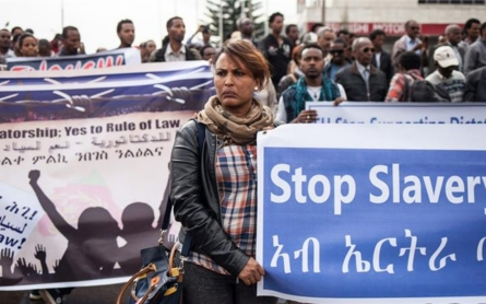 Diaspora Eritreans rally against human rights abuses