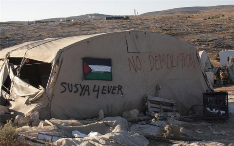 Thumbnail image for West Bank village anxiously awaits demolition