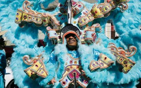 Thumbnail image for New Orleans' Indians suit up for Mardi Gras