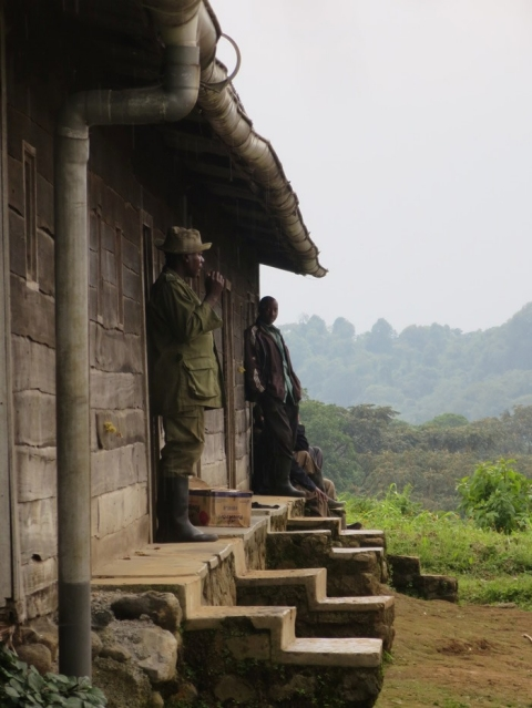 Virunga park rangers stationed at their posts.