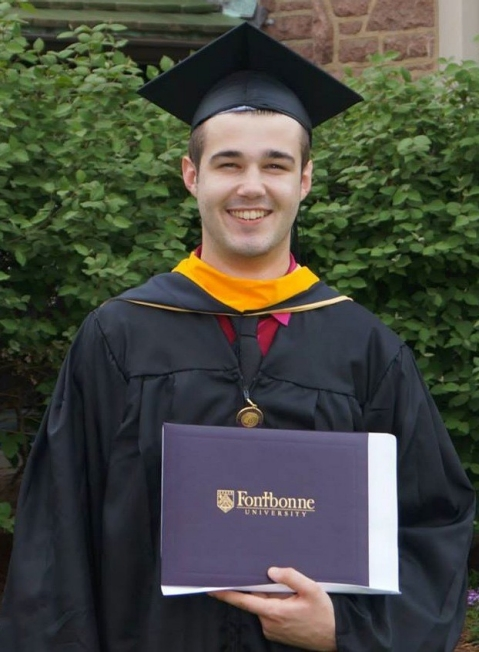 Vedran Marjanovic at his college graduation.