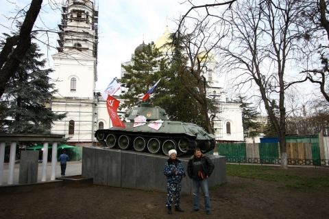 A World War II memorial in the center of Simferopol.