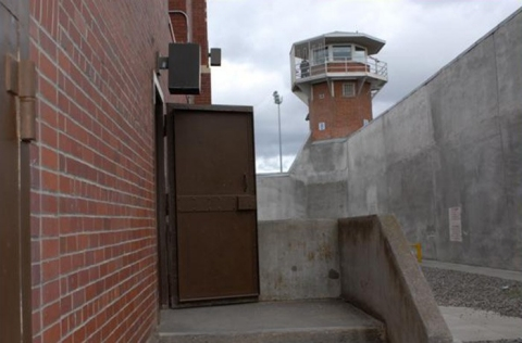 The entrance to the execution chamber at the Washington State Penitentiary.