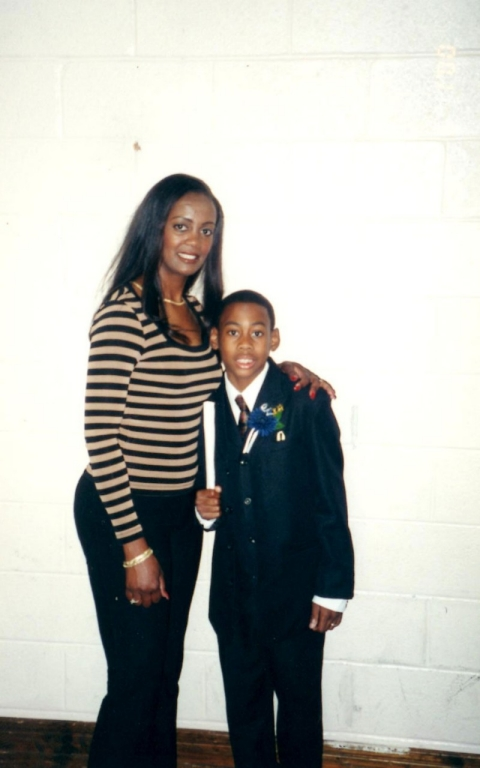 Clarence Anderson and his mom SCD