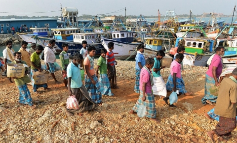The straying of Indian fishermen into Sri Lankan waters has become a thorny issue for New Delhi and Colombo.