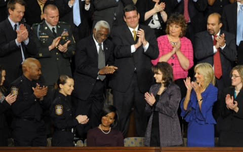 Thumbnail image for State of the Union gallery guests embody key Obama issues