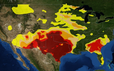 Thumbnail image for Map: US struggles through four years of drought