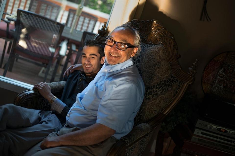 Patrick Costello, Left, And His Grandfather Michael Marks At Home, June 4,  2015 In Wichita, Kansas. Roxana Pop For Al Jazeera America
