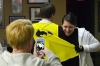 Britta Cavinder shows off her soon-to-be wife's Batman pajamas at the Metropolitan Community Church, the bus meeting point, Oct. 25, 2013, in St. Louis.